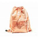 Großhandel Schulbedarf: Turnbeutel Gym Bag Beutel Hipster Rosegold Metalic