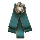 wholesale Electrical Installation: Bow Brooch Pin  Diamond Rhinestone Green