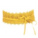 Waist Belt Wrap Bandage Belt Lace Yellow