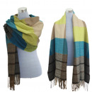 wholesale Scarves & Shawls: XXL Winter Scarf  Ladies Tartan Plaid Brown Green