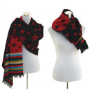 wholesale Dresses: Women scarf winter  scarf Plaid Scarf Star Red