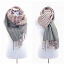 wholesale Scarves & Shawls: XXL Women's  Scarf Winter cloth Plaid Cape Pink