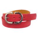 wholesale Fashion & Apparel: Leather Waist Hip Belt Double D Buckle Red