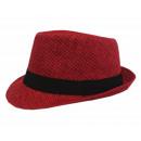 Uni Sex Panama Hat Straw Hat Summer Hat Red