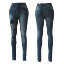 Sexy Damen  Jeggings Leggings  Jeans Optik ...