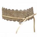 wholesale Belts: Waist Belt Wrap Belt Lace Gold Brown