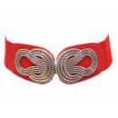 wholesale Belts: Lady Stretch Belt Waist Girdles Red