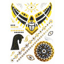 grossiste Chaines: Body Tattoo Gold Metallic Accssoires chaîne ...