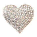 wholesale Handbags: Magnetic brooch  pin button shawl for Heart Gold