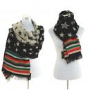 ingrosso Abiti: Sciarpa della  sciarpa di inverno Plaid Scarf Black