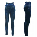 wholesale Trousers: Thermo Jeggings  High Waist Leggings Buttons