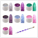 groothandel Reinigingsproducten: 7x 5 ml Exclusive  Glamour pailletten Glitter Color