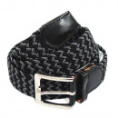 wholesale Belts: Unisex braided  belt belt plaited black gray