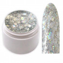 wholesale Nail Varnish: Crisp Glitter  sequins gel with silver threads