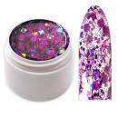 wholesale Nail Varnish: Crisp Glitter sequins gel with threads Purple
