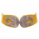 wholesale Belts: Women's Stretch Belt Waist Belt Dirt Yellow
