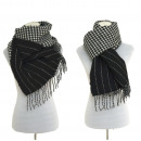 wholesale Scarves & Shawls: XXL Women's  Scarf Winter cloth Plaid Cape Blac