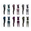 Großhandel Fashion & Accessoires: Damen Sport Wear Leggings Fitness Hose + Top Set