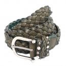 wholesale Belts: Women's Leather Braided Belt Braided Khaki