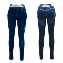 wholesale Jeanswear: Thermo Jeggings  Leggings Jeans Optics Used cracks