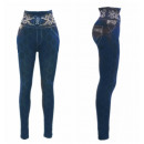 wholesale Trousers: Thermo Jeggings  High Waist Leggings Ornament