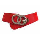 wholesale Dresses: Stretch belt double ring rhinestone one ...