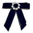 wholesale Electrical Installation: Bow Brooch Pin Diamond Rhinestone Blue