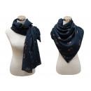 grossiste Vetement et accessoires: Écharpe avec des  paillettes Cactus Bleu foncé