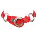 groothandel Sieraden & horloges: Dames Stretch riem met bloemen en ringen Rode