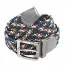 Unisex braided belt belt braided gray Colorful