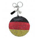 grossiste Gadgets et souvenirs: Porte-clés Pocket  drapeau cercle strass