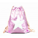 Turnbeutel Gym Bag Beutel Hipster Metallic Pink