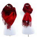 wholesale Fashion & Apparel: XXL Women's  Scarf Winter cloth Plaid Cape Red