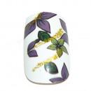 Großhandel Drogerie & Kosmetik: 12 Airbrush Nails Tips Weiß mit Blüten
