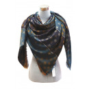 wholesale Dresses: XXL Women Scarf  Glitter threads Cloth Star Blue ye