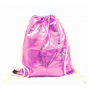 Turnbeutel Gym Bag Beutel Hipster Pink Metallic