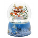 wholesale Snow Globes: Mega snow globe 20cm carriage Winter Schneeaufwir