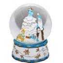 Schneekugel Santa Spieluhr, blau, 150mm
