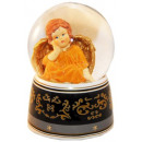 Terracotta angel music box snow globe 140mm