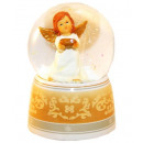 White angel music box snow globe 140mm shell