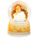 Snow Ball Music Box con ángeles 140mm