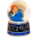 Blue angel snow globe with music box 140mm