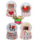 Aktionspaket Valentinstag 4 Schneekugeln Liebe