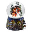 Schneekugel Schneemann Kids Snowmotion, LED