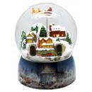 Mega-Schneekugel Weihnachtsdorf bunt mit doppelter