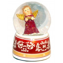 Snow globe music box angel red shell 140mm