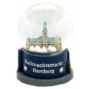 Souvenir snow globe Christmas Market in Hamburg