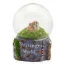 Souvenir sneeuwbol Thüringer Woud