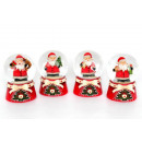 Schneekugel Mini Santa nordic, 4fach