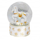 Remnants Snowglobe Rocking Horse - bubble